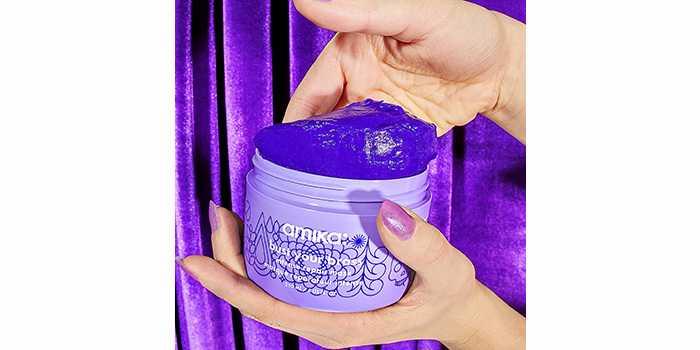 Восстанавливающая маска для волос Amika Bust Your Brass Cool Blonde Purple Intense Repair