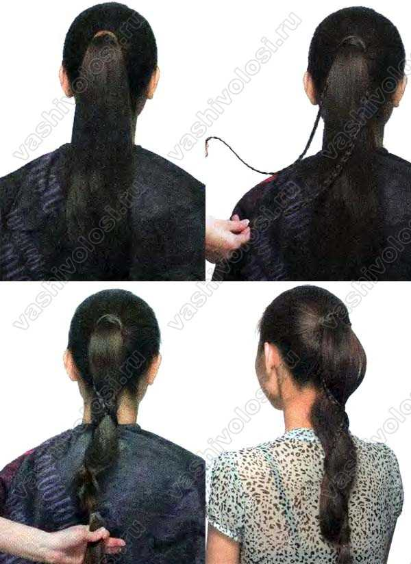 Ажурное плетение волос