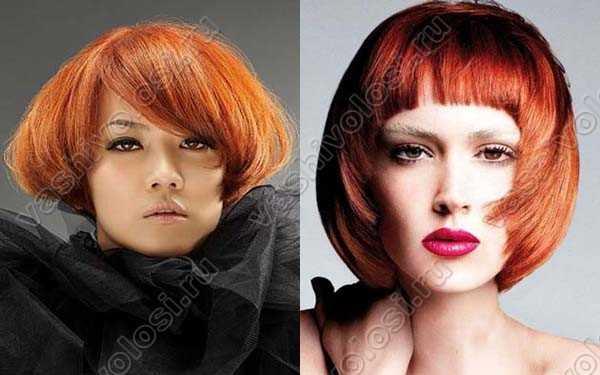 Цвет волос для каре