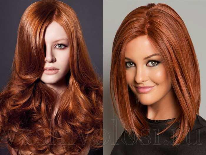 Окрашивание волос цвет корица