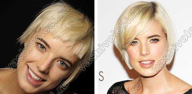 Девушки блондинки с челкой