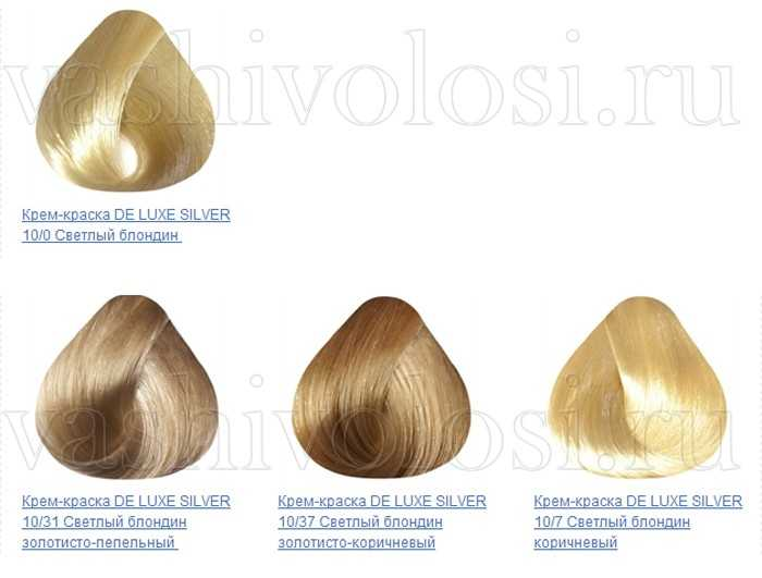 Эстель палитра краски для седых волос