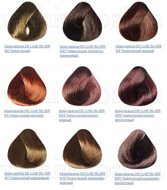 Краска для седых волос капус палитра цветов на волосах