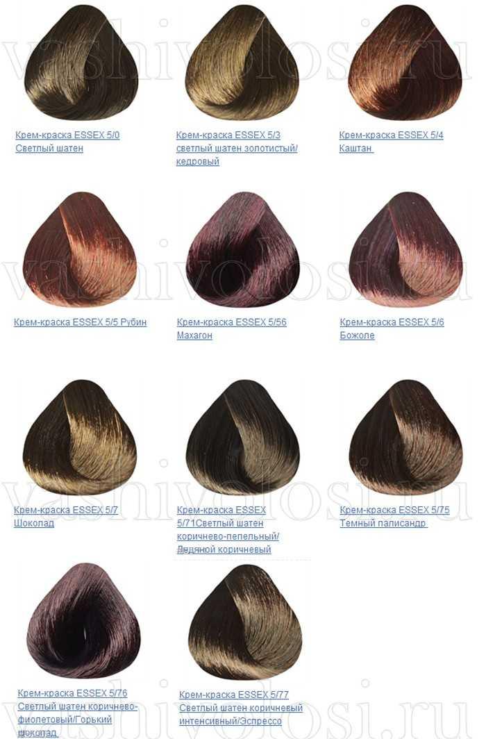 Краска для волос эстель silver профессионал палитра цветов