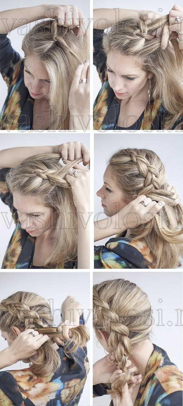 Голландская коса - схема