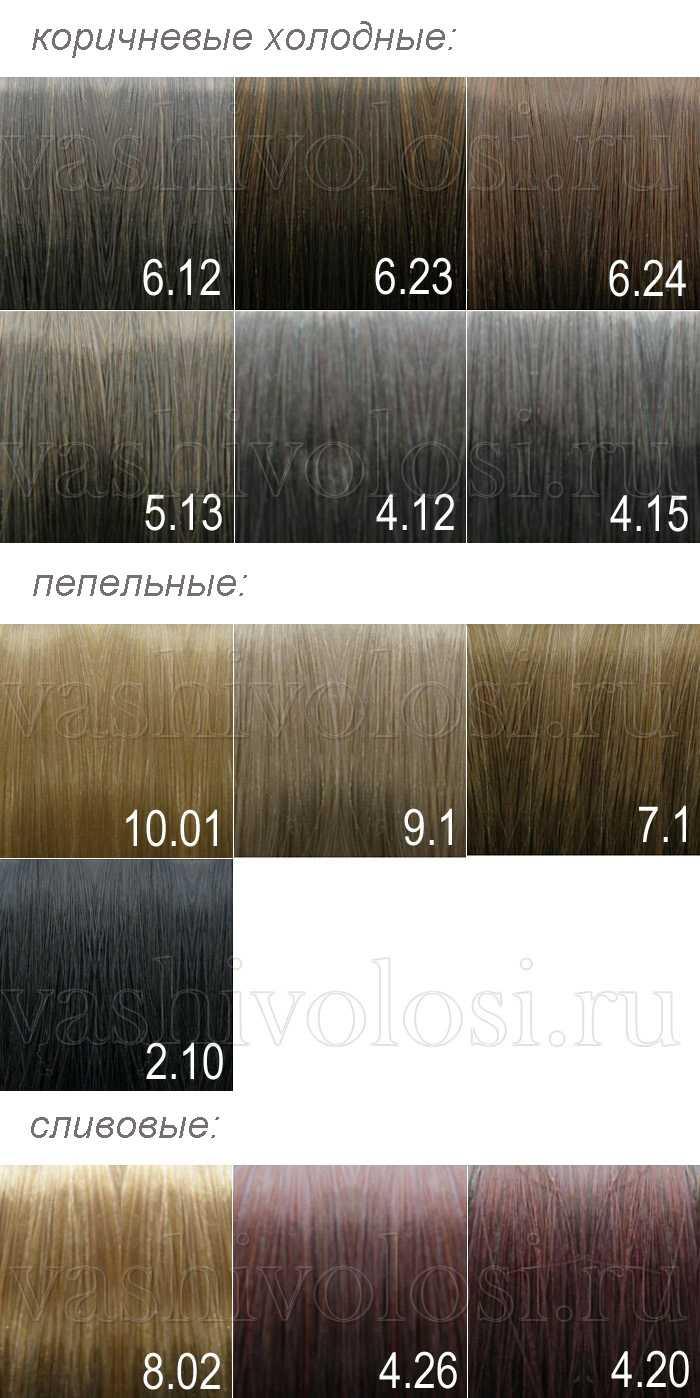 Холодные оттенки красок для волос палитра