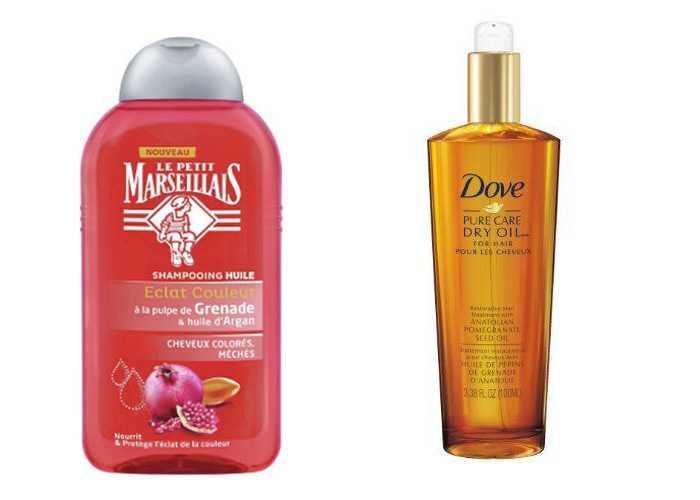 Использование масла граната для волос