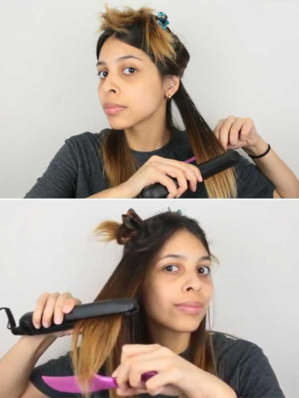 Использование утюжка для выпрямления волос без повреждения