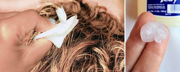Как удалить вазелин с волос