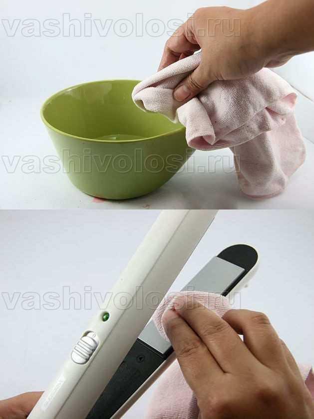 Как чистить утюжок для волос