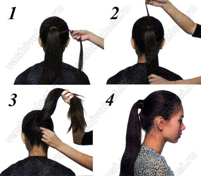 Как сделать хвост и обмотать волосами резинку