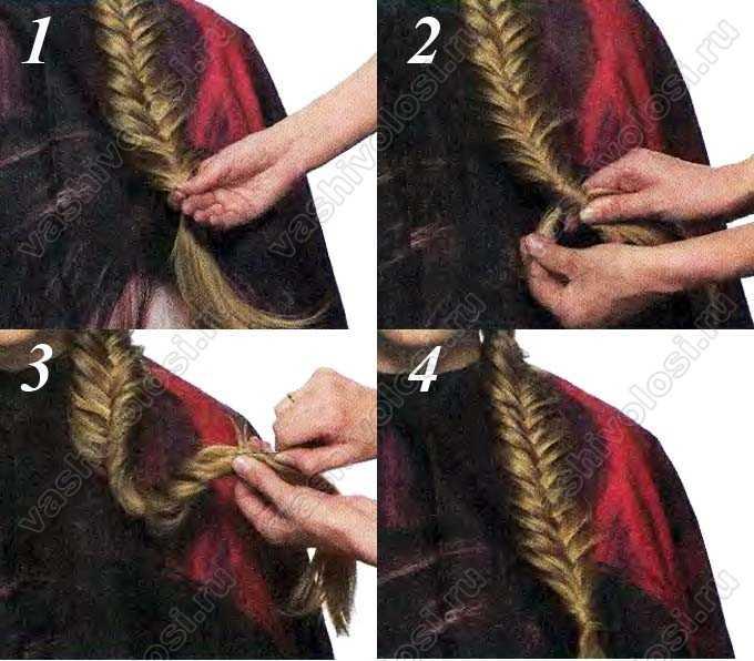 Как обернуть волосы вокруг резинки