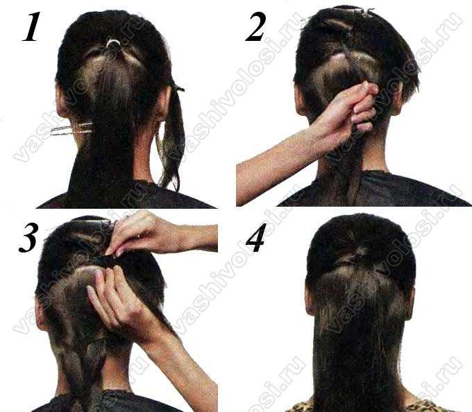 Как закрыть резинку в хвосте волосами