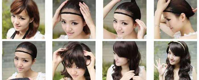 Как одевать парик