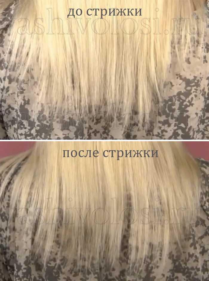 Как самой себе подстричь кончики волос
