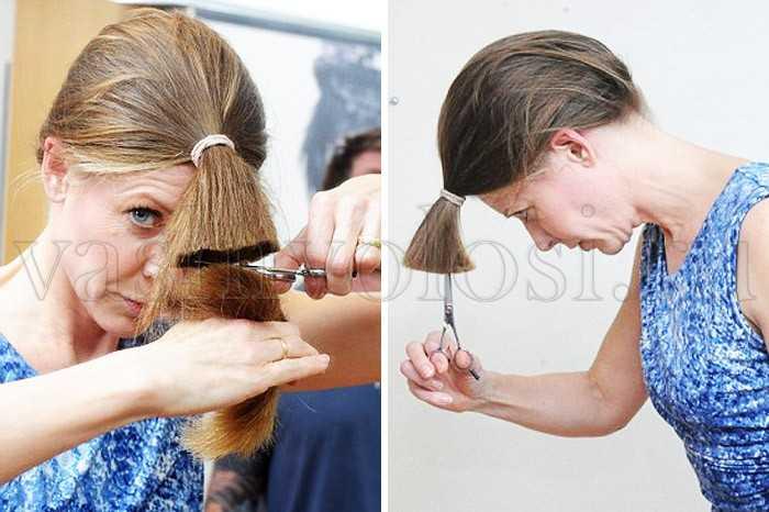Как подстричь саму себя пошаговое