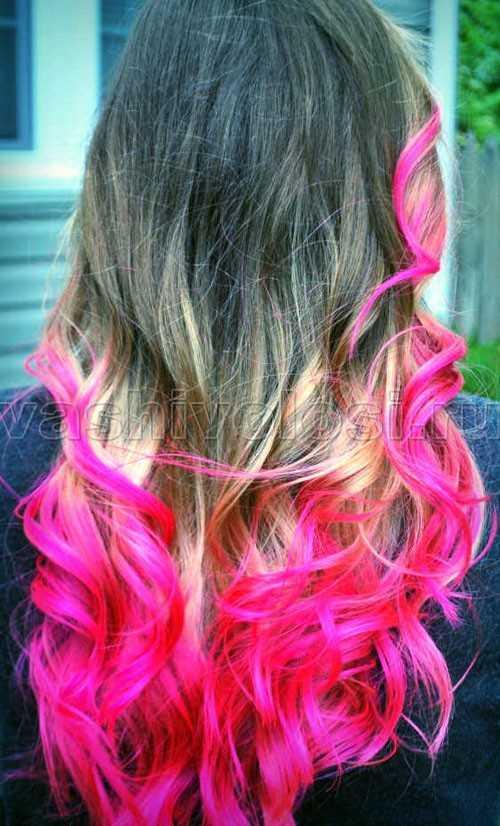 Как и чем покрасить кончики волос в домашних условиях