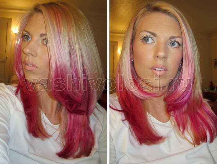 Как сделать розовый цвет волос 576