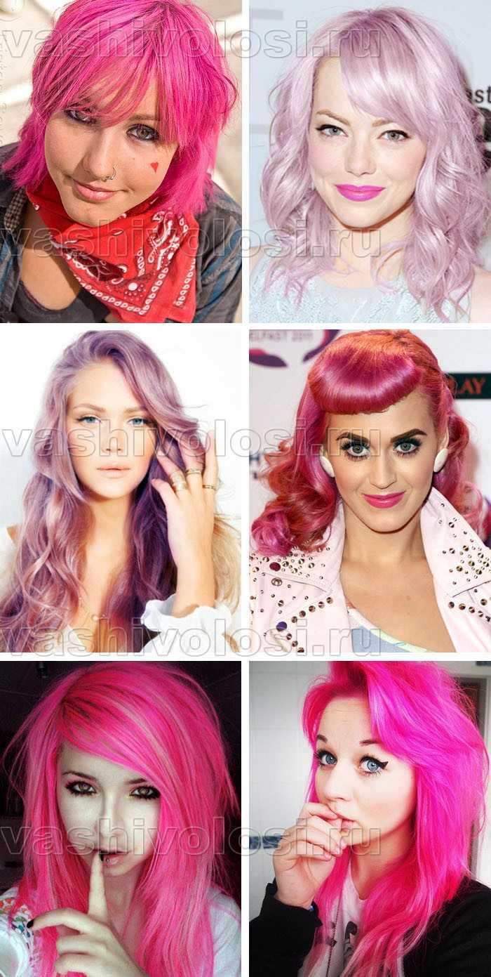 Как сделать розовый цвет волос 738