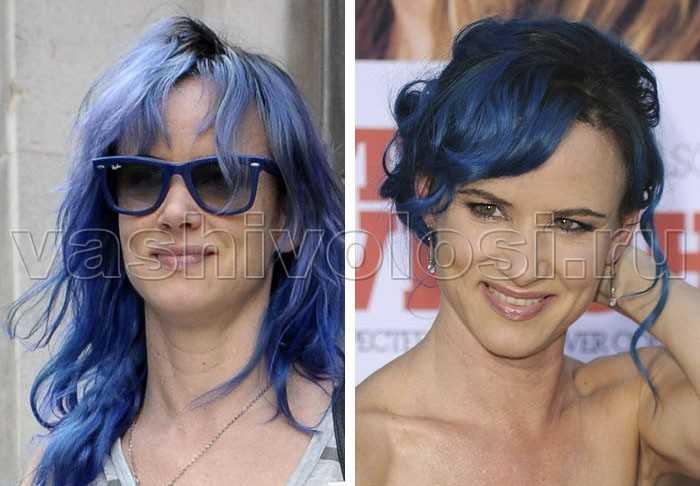 Как покрасить волосы в синий цвет