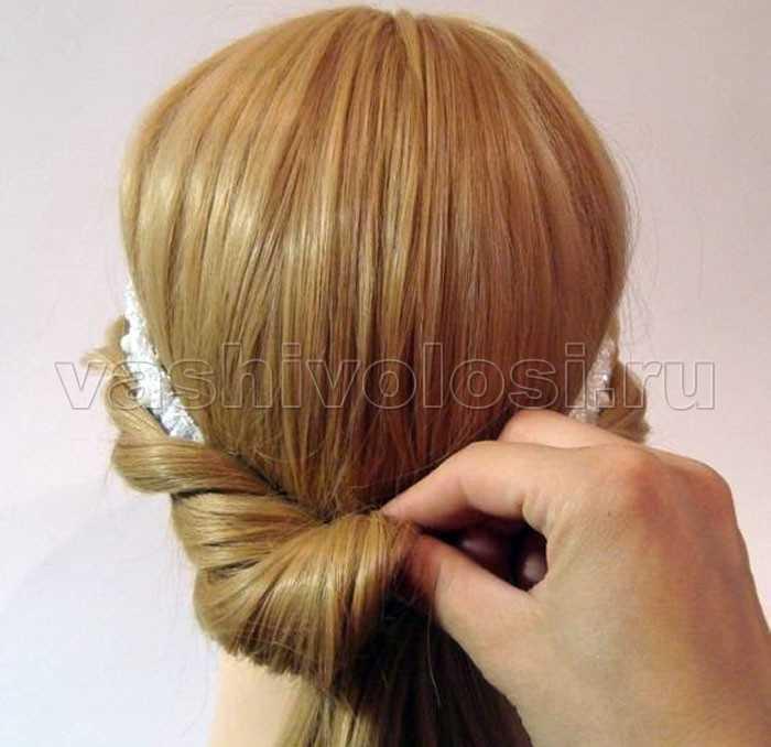 Как сделать греческую причёску с повязкой