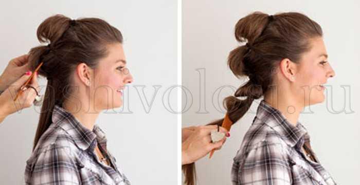 Как сделать хвост с начесом