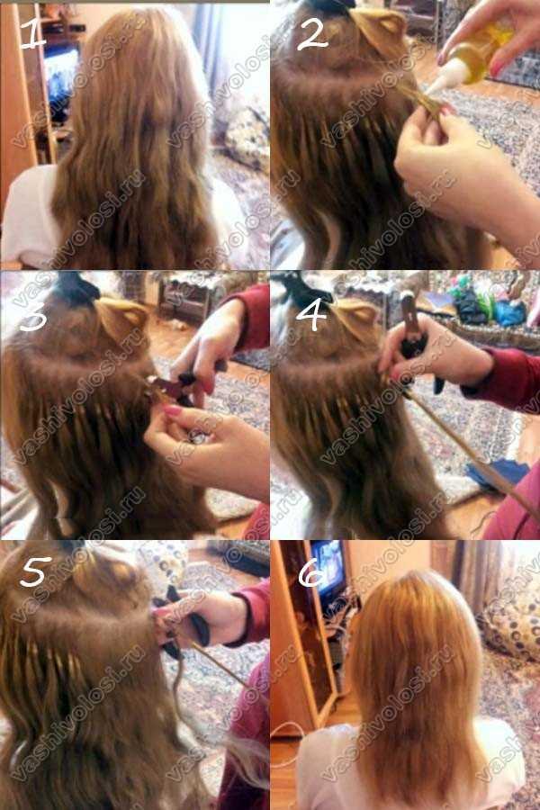 Как снять волосы наращенные