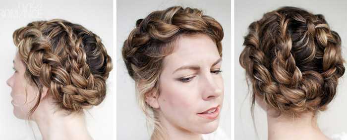 Как заплести косу вокруг