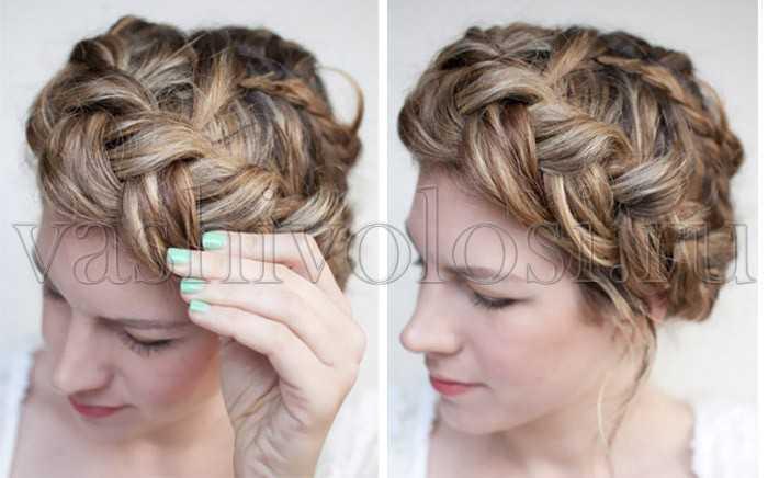 Как заплести косу вокруг головы