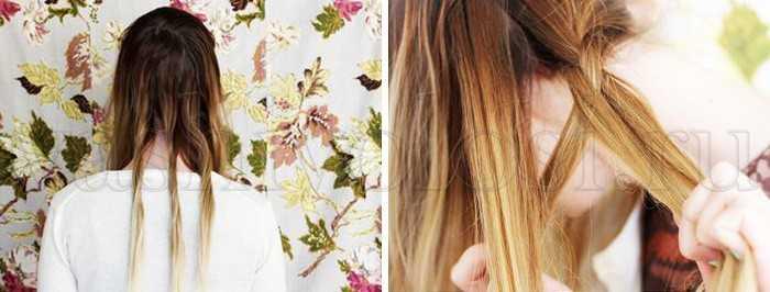 Как заплести ободок из волос