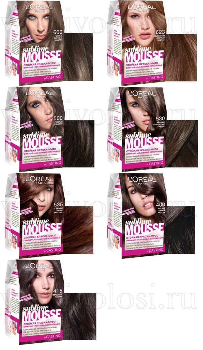 Краски для волос каштановые оттенки