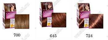 Краска для волос Лореаль палитра цветов и оттенков для