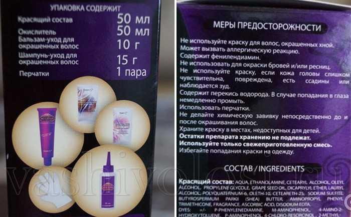Состав краски для волос Bogema Белита-М Cosmetics