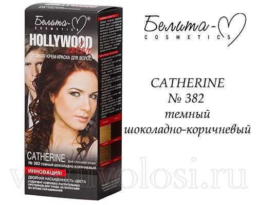 Hollywood Color CATHERINE, № 382 оттенок темный шоколадно-коричневый