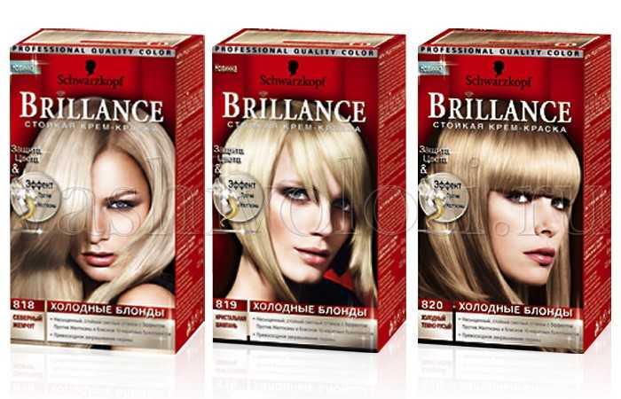 Палитра краска для волос brilliance
