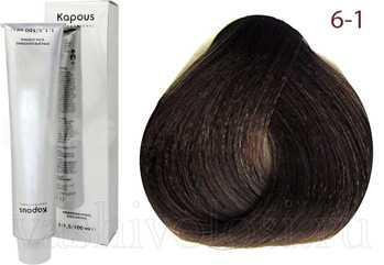 Краска капус 6.1 на волосах фото