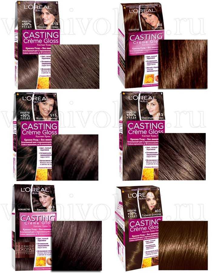 шоколадные оттенки краска для волос фото