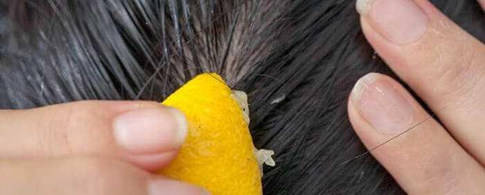 Лимонный сок от перхоти