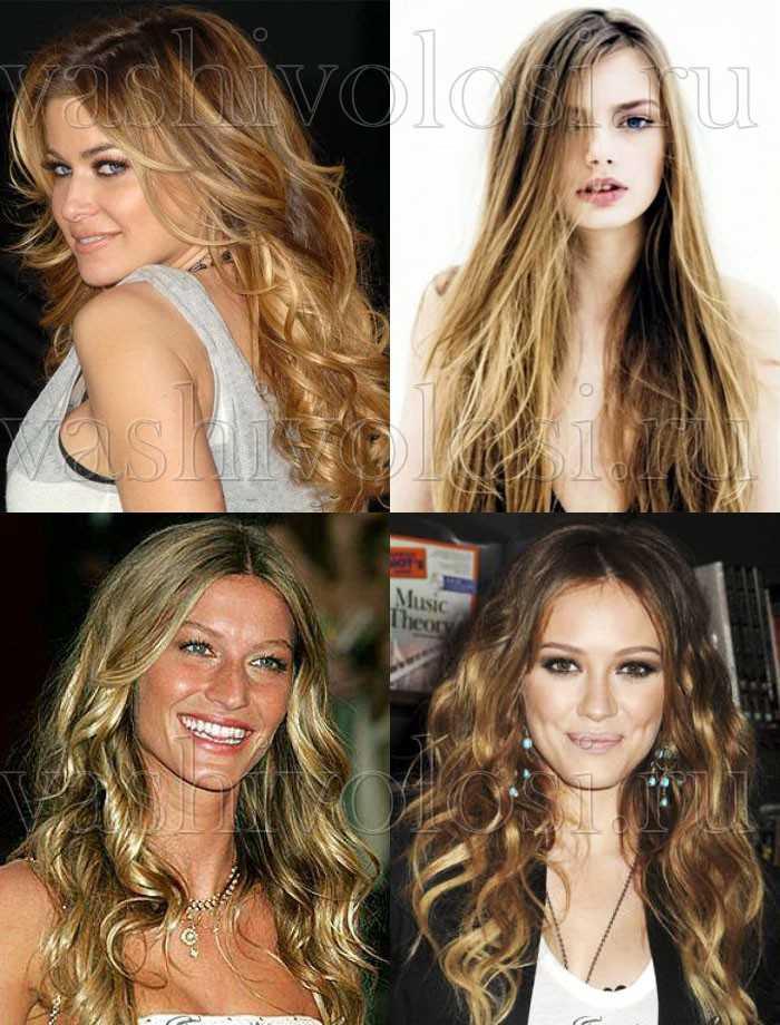 Мелирование волос на русые волосы