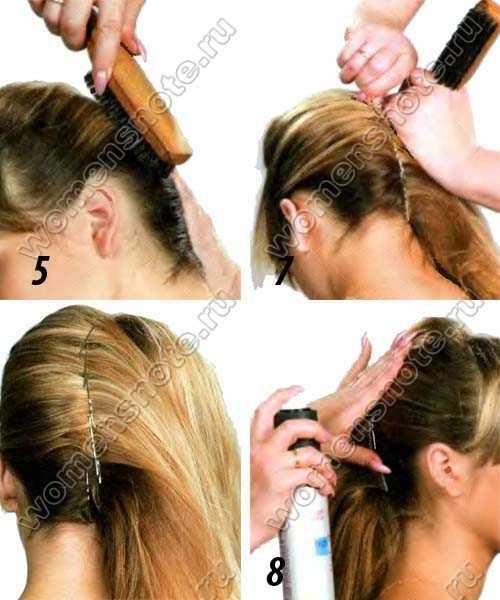 Начес на средние волосы