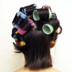 Накрутить на бигуди короткие волосы