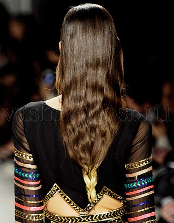 Необычные косы на длинные волосы