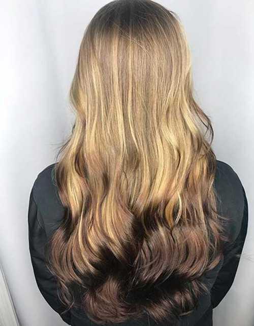 Обратный балаяж: новый тренд для затемнения волос
