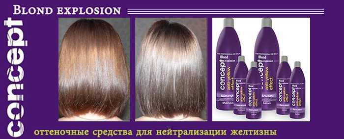 Средство от желтизны волос после мелирования