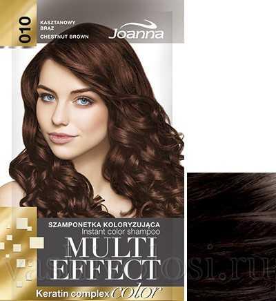 """оттеночный шампунь Joanna """"Multi Effect Color"""" 10 оттенок """"Каштановый"""""""