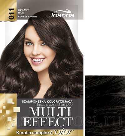"""оттеночный шампунь Joanna """"Multi Effect Color"""" 11 оттенок """"Кофейный коричневый"""""""