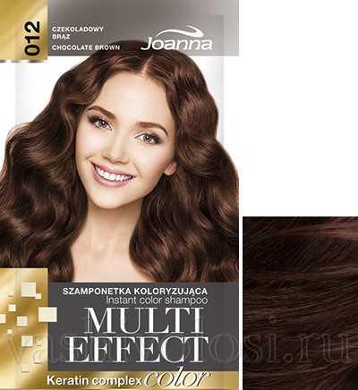 """оттеночный шампунь Joanna """"Multi Effect Color"""" 12 оттенок """"Шоколадный коричневый"""""""