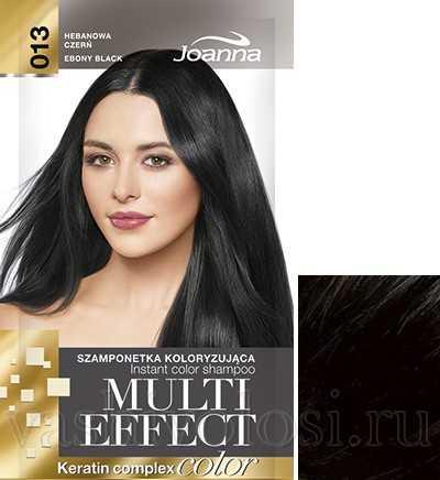 """оттеночный шампунь Joanna """"Multi Effect Color"""" 13 оттенок """"Черное дерево"""""""