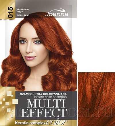 """оттеночный шампунь Joanna """"Multi Effect Color"""" 15 оттенок """"Огненно-красный"""""""