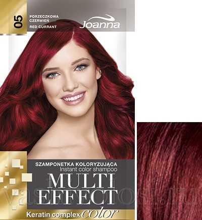 """оттеночный шампунь Joanna """"Multi Effect Color"""" 5 оттенок """"Красная смородина"""""""